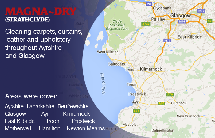 We cover Ayrshire and Glasgow - Carpet Cleaning